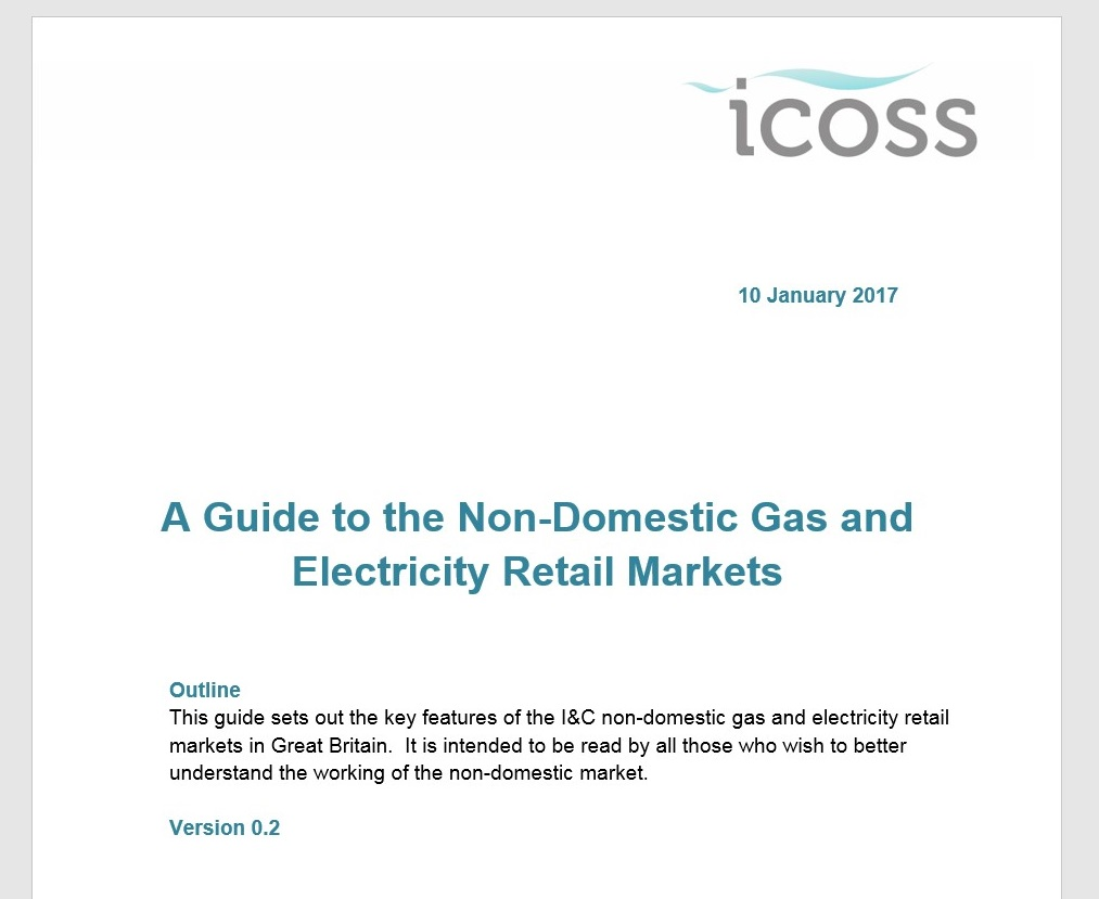 ICoSS publishes ICoSS Non-Domestic Energy Efficiency Guidance